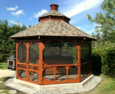 beautiful gazebo en bois gallery. Black Bedroom Furniture Sets. Home Design Ideas